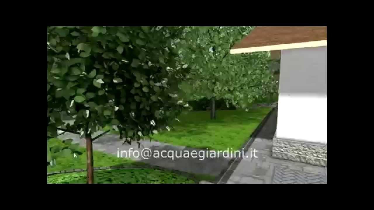 Acqua e giardini rendering progettazione giardino 3d 01 for Giardino 3d