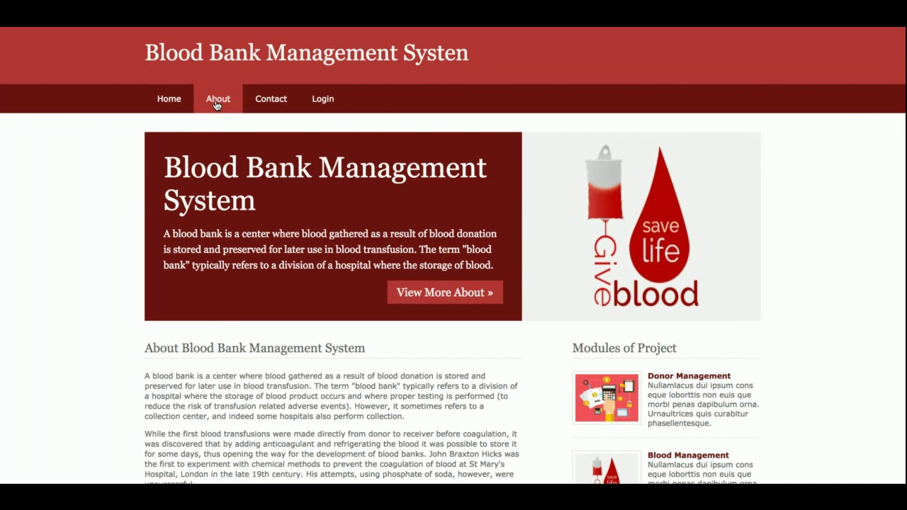 Python, Django And MySQL Project On Blood Bank Management System