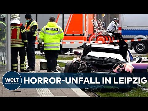 HORROR-UNFALL in Leipzig: Autofahrer rast in Fußgängergruppe - drei Tote!