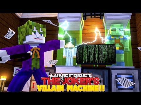 Minecraft Adventure - THE JOKER HAS BUILT A VILLAIN MACHINE!!