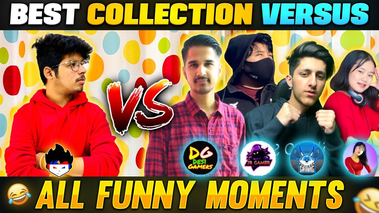TSG Jash Collection Vs Desi Gamer , Sooneeta, As Gaming ,2B Gamer & Nayan - All Funny Moments