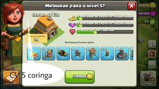 vila coringa ou mini max do clash of clans parte#4 melhorando o cv