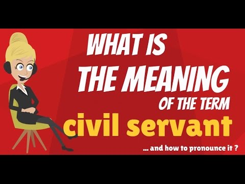 What is CIVIL SERVANT? What does CIVIL SERVANT mean? CIVIL SERVANT meaning & explanation