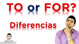 Diferencias entre TO y FOR en inglés - Nunca más te confundirás