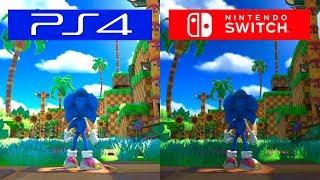 Sonic Forces   Switch VS PS4   GRAPHICS COMPARISON   Comparativa