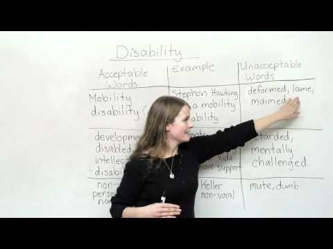 Talking about disability - words to use and words not to use
