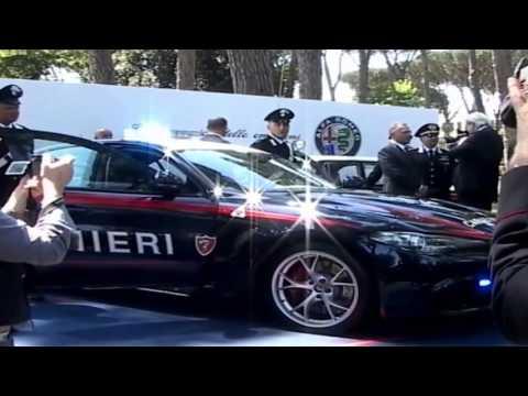 Roma, 5 maggio 2016 - Consegna della nuova Alfa Romeo Giulia Quadrifoglio all'Arma dei Carabinieri