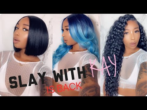 Slay With Kay Is Back- New & Improved- 13x7 Synthetic Wigs- Trendy Kay - 동영상