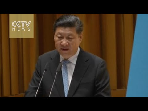 Chinese President Xi Jinping delivers speech at National University of Singapore
