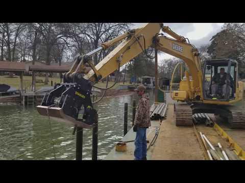 Cedar Creek Lake Dock contruction build
