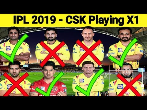 Chennai Super Kkings 2019 IPL Playing X1 | CSK Squad For IPL 2019