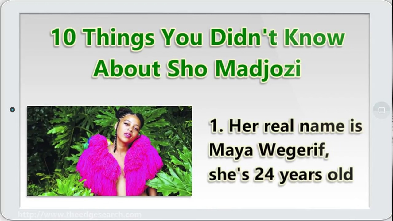 10 Things I Know About You: 10 Things You Didn't Know About Sho Madjozi