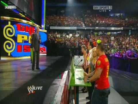 Bob Barker plays the Price is RAW