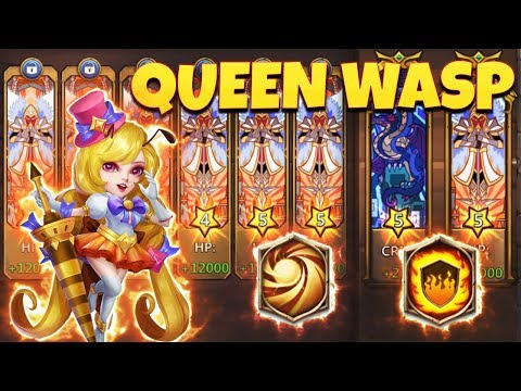 Queen Wasp   10/10 FlameGuard   9 Sacred Light   Raids Gameplay  CASTLE CLASH