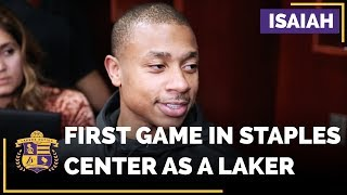 Isaiah Thomas REACTION To Playing His Home Game With The Lakers