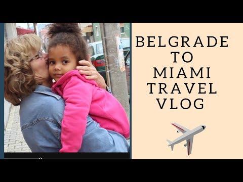 TRAVEL VLOG WITH KIDS - BELGRADE TO  MIAMI