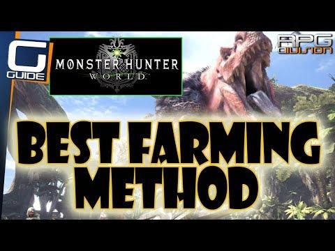 MONSTER HUNTER WORLD - BEST WAY TO FARM MATERIALS, ARMOR SPHERES & MONEY