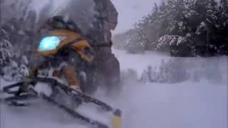 Динго Т 150  навалило снега,решил покататься и проверить
