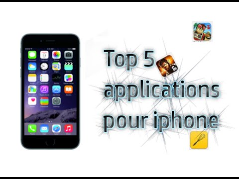 top 5 applications pour iphone 6 janvier youtube. Black Bedroom Furniture Sets. Home Design Ideas