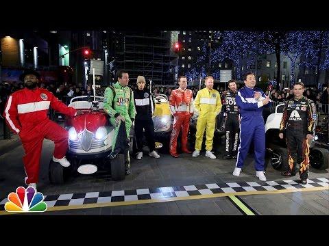 The Tonight Show NASCAR 500 Race in Rockefeller Plaza