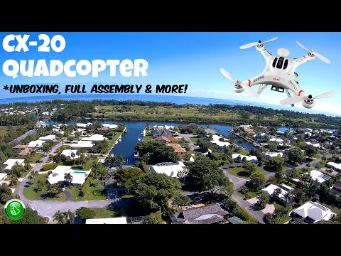 Cheerson CX-20 Quadcopter(Unboxing/Assembly/Teardown & Operation)