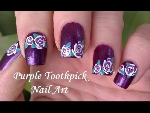 Toothpick Nail Art Tutorial 5 How To Rose Nail Art In White