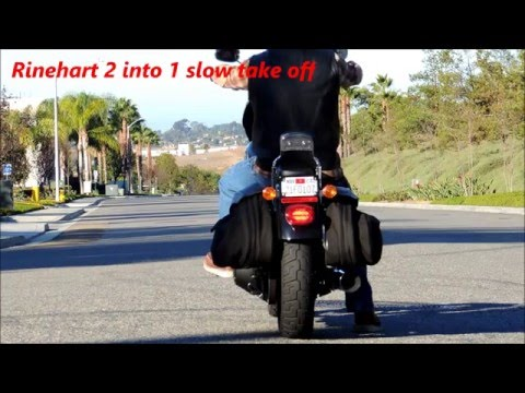 Dyna 2 into 1 exhaust sound comparison - YouTube