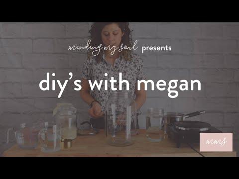 Kombucha Brewing Part One: First Fermentation / DIY's with Megan