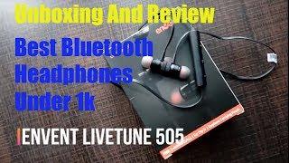 Envent LiveTune 505 Magnetic Bluetooth Earphones with mic |Unboxingand reviewBestBluetoothHeadphones
