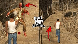 Secret Cave with Zombies in GTA San Andreas! (Hidden Place)