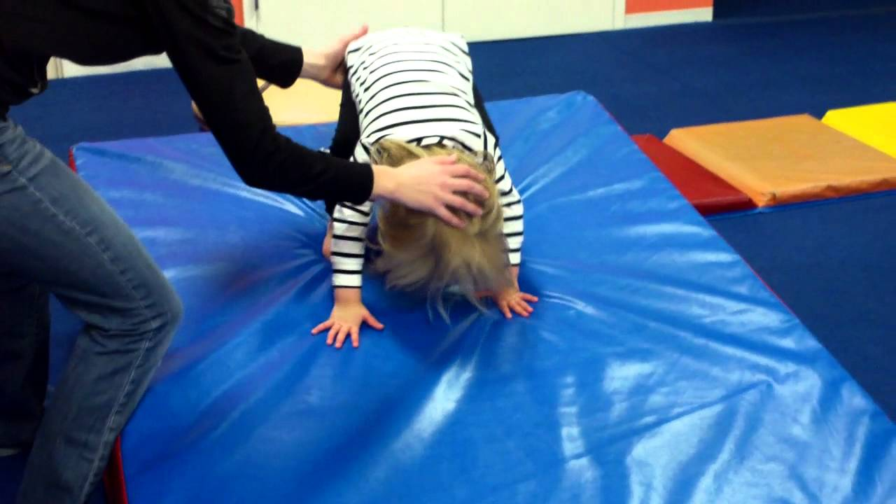 Forward Roll Down The Wedge Mat Gymnastics Youtube