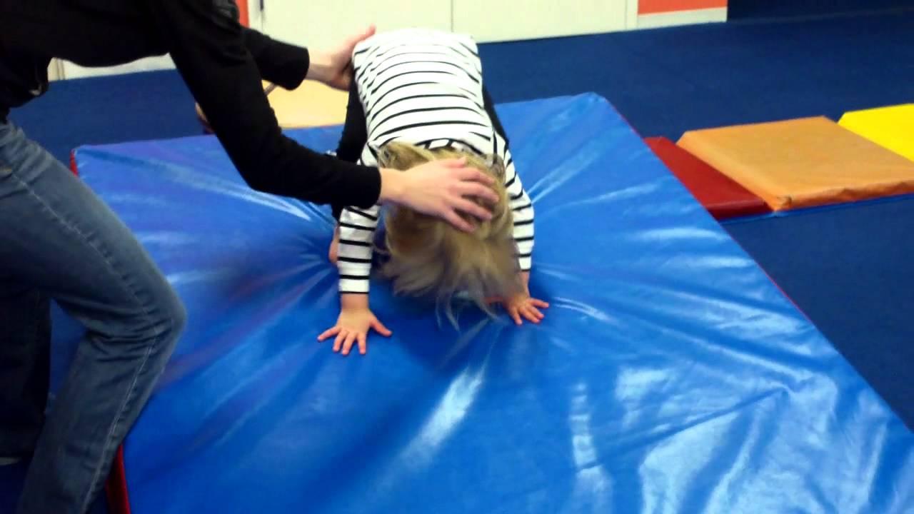 Forward Roll Down The Wedge Mat Gymnastics Youtube