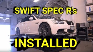 Swift Springs Installed on the E92 M3, PTUNING Alignment