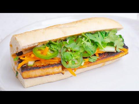 Easy Tofu Banh Mi Sandwich Recipe (100% Vegan)