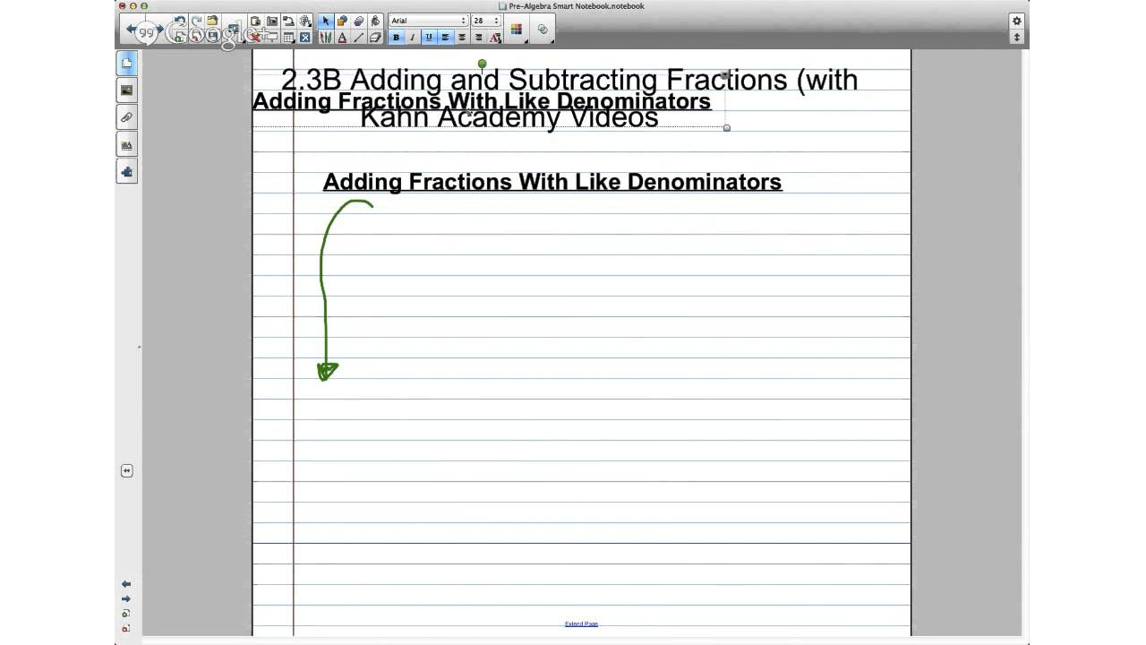 Prealgebra 23b Adding And Subtracting Fractions