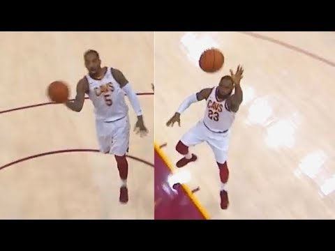 LeBron James & Jr Smith Alley-Oop to Larry Nance Jr In His Starting Debut! Cavaliers vs Pistons