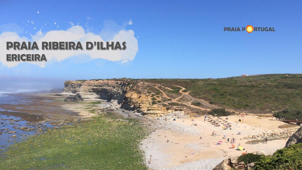 Praia Ribeira DIlhas Ericeira YouTube - Portugal map ericeira