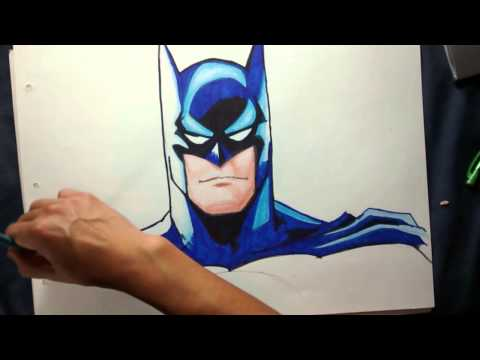Como dibujar a BATMAN- How to draw BATMAN