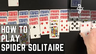 How To Play Spider Solitaire screenshot 1