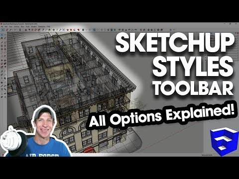 USING THE STYLES TOOLBAR IN SKETCHUP - All tools explained! - The