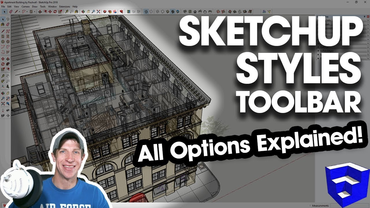 USING THE STYLES TOOLBAR IN SKETCHUP - All tools explained!