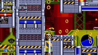 "Sonic Mania (PC) - Chemical Plant 2 Sonic: 1'23""48 (Speed Run)"
