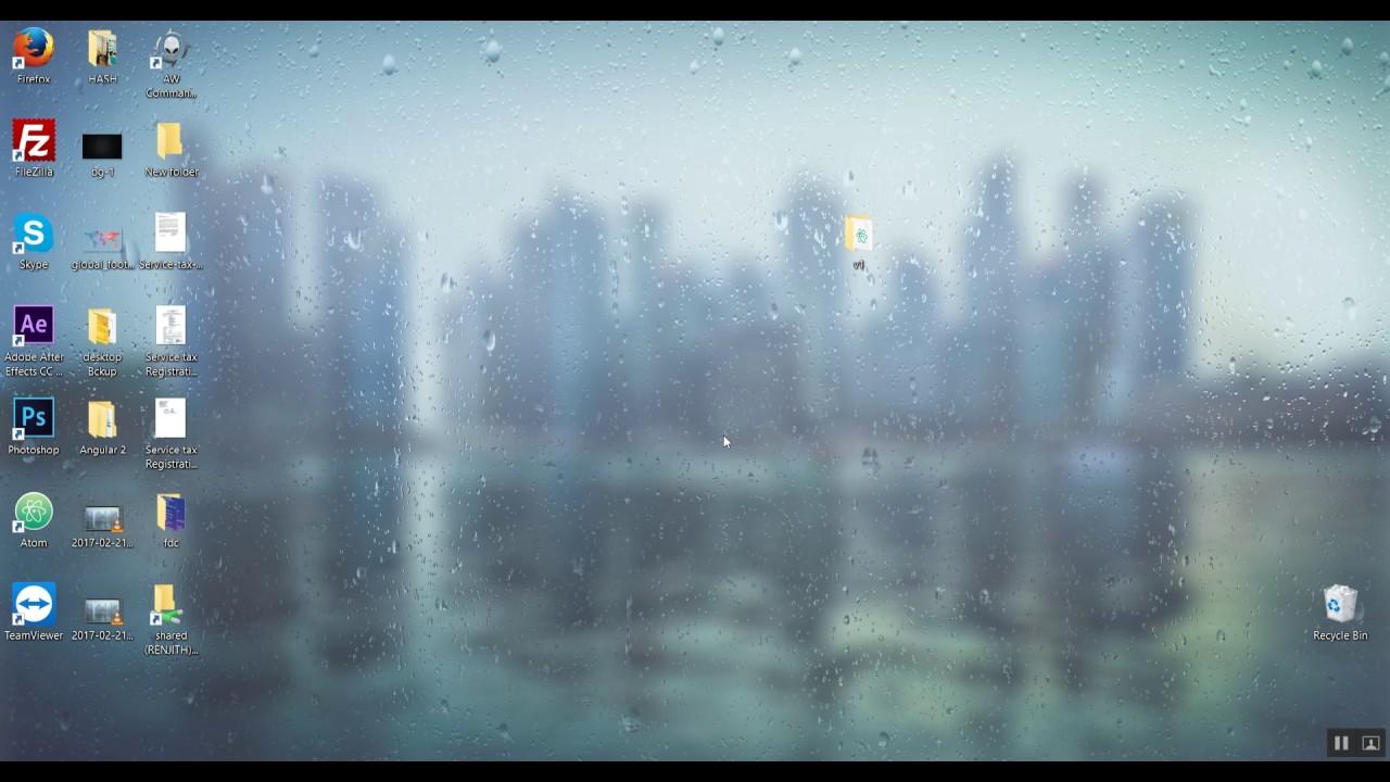 RAIN DROPS DRIZZLE - LIVE STEAM WALLPAPER ENGINE ON ALIENWARE - YouTube