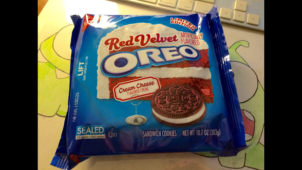 Unboxing Limited Edition Red Velvet Oreos - YouTube