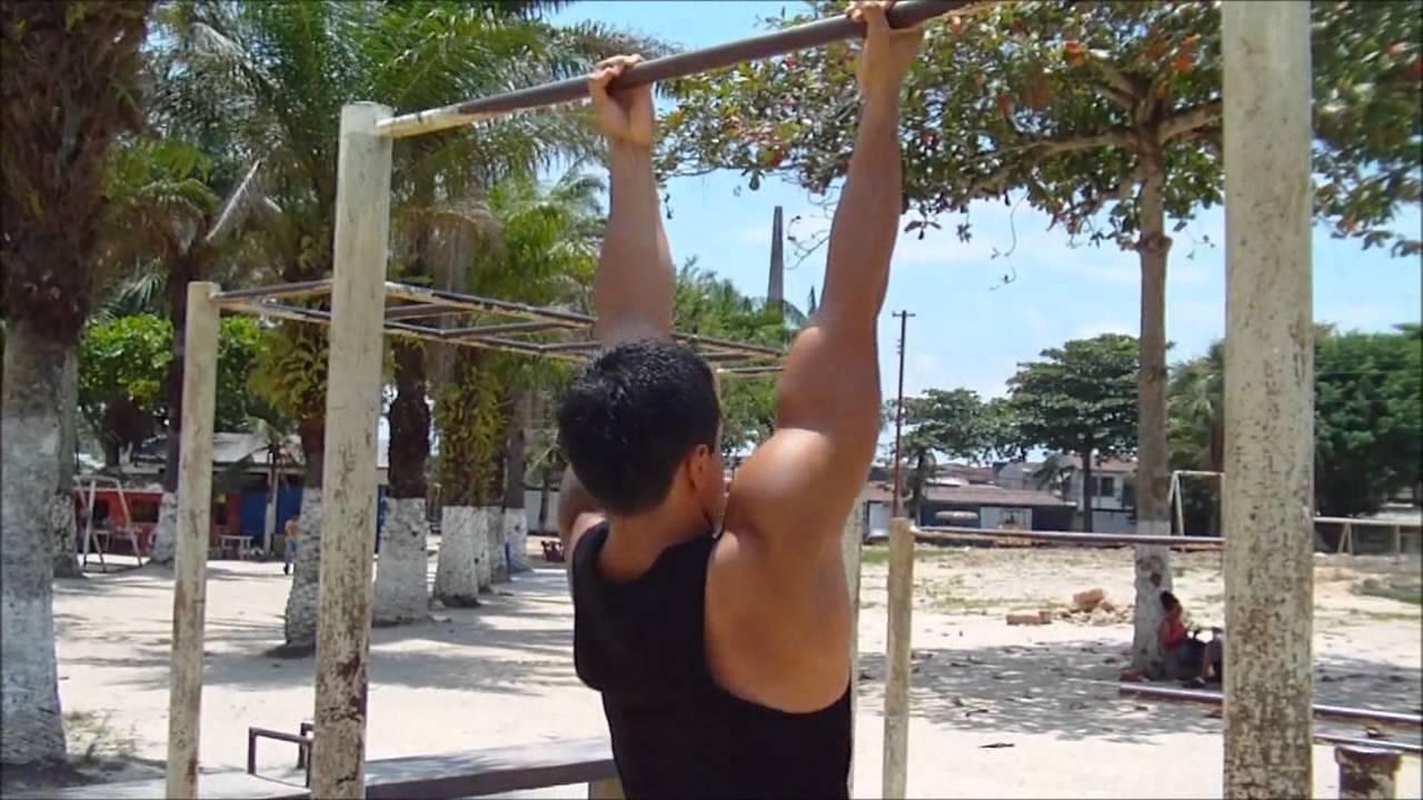 Rutina de espalda y pectorales ejercicios con tu peso corporal youtube - Barras de ejercicio para casa ...