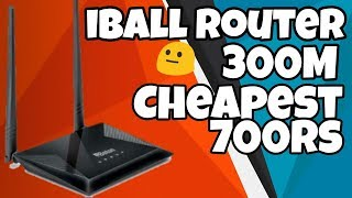 Iball Baton iB-WRB304N Router Unboxing Review amp Setup In Hindi