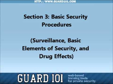 Section 3: Basic Security Procedures