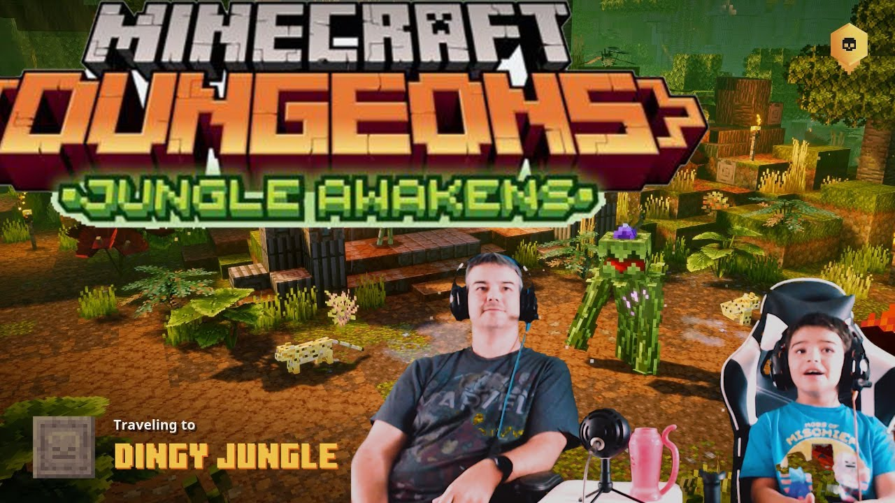 Minecraft Dungeons   Dingy Jungle   Jungle Awakens DLC   Complete Level   2 Player Co-Op