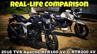Reallife comparison of 2018 ApacheRTR160&RTR200||Similar or different||by biker soul