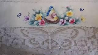 Pintura em Tecido – Aprenda Pintar Pássaros, Flores e Folhas – COMPLETO